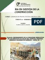 MAESTRIA DE LA GESTIÓN DE CONSTRUCCION