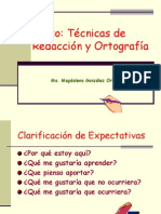 Presentación de Técnicas de Redacción y Ortografía