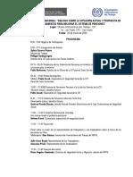 """PrograPrograma del Seminario Internacional """"Diálogo sobre la situación actual y propuesta de lineamientos para mejorar el sistema de pensiones"""" 23-01-2020"""