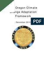 Oregon Climate Change Adaptation Framework