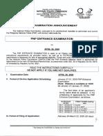 NAPOLCOM PNP Entrance Exam April 2020 Guide