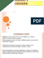 Pregnancy Disorders