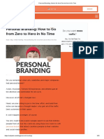 Personal Branding_ How to Go from Zero to Hero in No Time