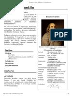 Benjamin Franklin – Wikipédia, a enciclopédia livre