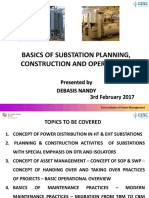 Basics of Substation planning, Construction and Operations