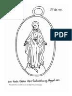 Página para Colorear de la Medalla Milagrosa