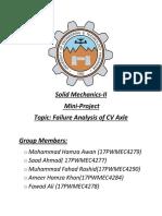 Project CV Axle