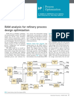 RAM analysis for refinery process design optimization