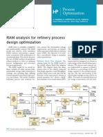 RAM analysis for refinery process design optimization