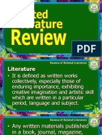 12-1 Reviewing the Literature