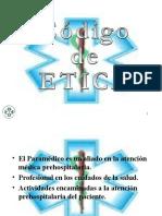 Código de Ética - Juramento del Paramédico