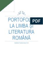 Portofoliu La Limba Și Literatura Română