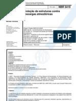 NBR 5419 Protecao Descargas Atmosfericas