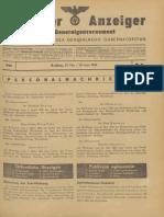 Amtlicher Anzeiger für das Generalgouvernement