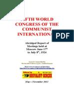 Fifth Congress of the Communist International 1924