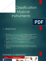 The 5 Classification of Musical Instrument