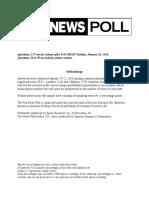 Fox News Poll January 19-22, 2020