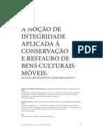 VASCONCELOS_GRANATO_A noção de integridade aplicada a conservacao e restauro de bens culturais móveis
