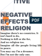POSITIVE AND NEGATIVE EFFECTS OF RELIGION eshe