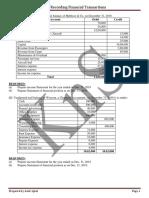 FA1 Financial Statements