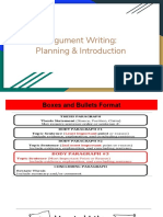 planning and introduction for argument essay