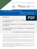 La dimensión bioética de los Objetivos de Desarrollo Sostenible