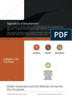 Applications of biosystematics