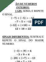 ADIÇÃO DE NUMEROS INTEIROS.docx