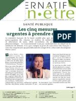 AlternatifBienEtre- Les Cinq Mesures Urgentes a Prendre en 2019 SD