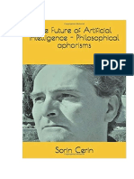 The Future Of Artificial Intelligence - Philosophical Aphorisms by Sorin Cerin