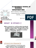 FRA Ethical issues