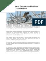 Mantenimiento Estructuras Metálicas para evitar la corrosion