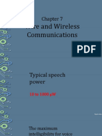 CHAPTER 7 - WIRE AND WIRELESS COMMUNICATIONS