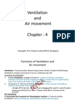 Ventilation -Airmovement share