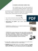 RESUMO DAS FUNÇÕES DA INFUSOMAT COMPACT
