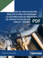 VALIDACIÓN DE UNA ECUACIÓN ANALÍTICA PARA DETERMINAR LA DISTRIBUCIÓN DE PRESIONES DE CONTACTO EN UN CONJUNTO ANILLO - PISTÓN