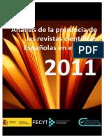 Listado revistas españolas JCR 2011