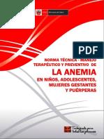 norma técnica de anemia MINSA