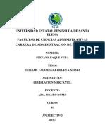 TITULO VALOR- LETRA DE CAMBIO (BAQUE 100-100)