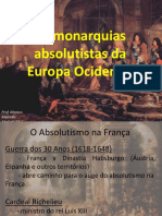 1_As monarquias absolutistas da Europa Ocidental