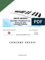 program de sala concert festiv Young Artists Piano Festival  ed I