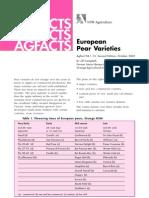 European Pear Varieties