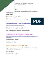Los Belenes Navideños de Montes Claros Desde El 2012 Al 2019