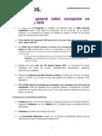 Información general sobre corrupción en España desde 1978