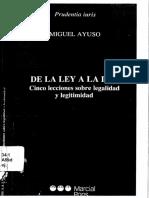De la Ley a la Ley. Cinco lecciones sobre legalidad y legitimidad - Miguel Ayuso (V).pdf