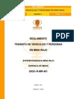 REGLAMENTO TRÁNSITO DE VEHICULOS Y PERSONAS EN MINA RAJO (003)