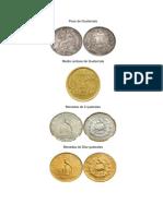 Monedas de Guatemala y billetes