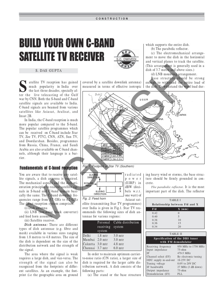 Make Your Own Cband Satellite Tv | Satellite Television | Polarization  (Waves)