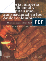 Brujería, minería tradicional Andes colombianos.