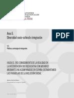 HACIA EL (RE) CONOCIMIENTO DE LA INTERVENCIÓN PSICOSOCIOEDUCATIVA CON MENORES  MIGRANTES NO ACOMPAÑADOS